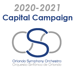 image 2020-2021 Capital Campaign with Orlando Symphony Orchestra logo below it